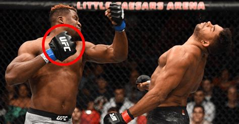 Francis Ngannou Reveals That His UFC Fight Gloves Are Big