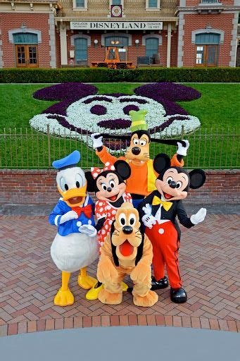 Disneyland Minnie, Mickey, Donald, Pluto, and Goofy in