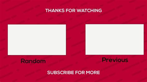 Cool Free Professional Outro Template 2017 ( No After