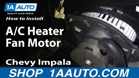 How To Install Repair Replace A/C Heater Fan Motor Chevy