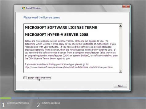 How to install Microsoft Hyper-V Server 2008 - The things
