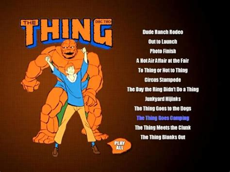 The THING CARTOONS 2 DVD ALL 26 episodes (1979