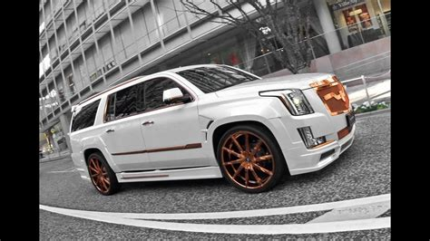 "2016 Cadillac Escalade Rose Gold 26"" Lexani Wheels - YouTube"