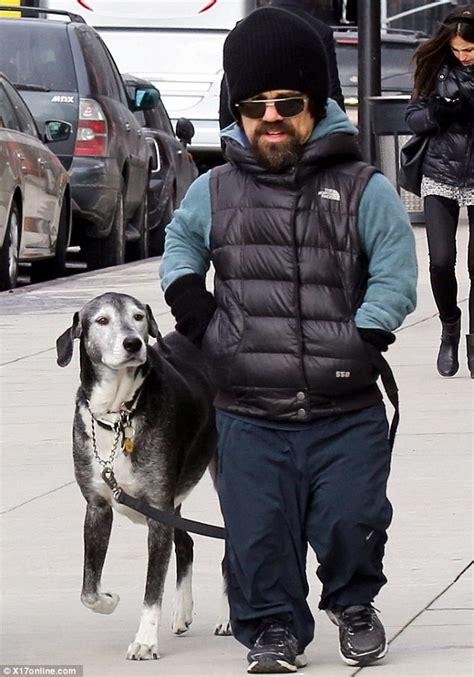 Peter Dinklage and wife Erica take daughter and dog for a