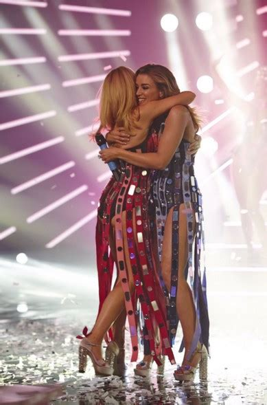 WATCH: Kylie and Dannii Minogue reunite on The X Factor