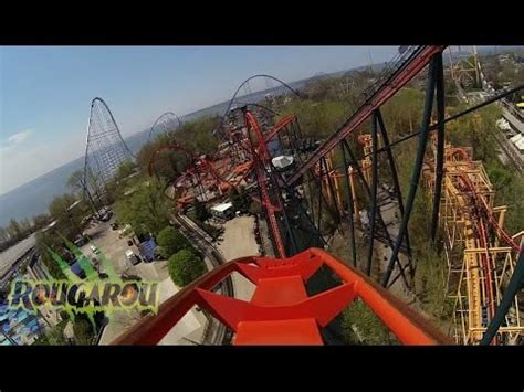 Rougarou roller coaster POV, formerly Mantis, at Cedar