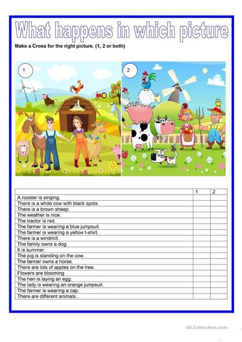 Picture description - Farm animals