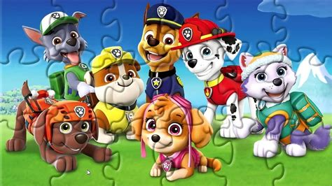PAW PATROL | Online puzzle game for children - YouTube