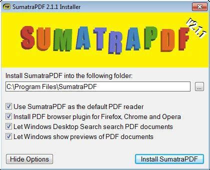 Sumatra PDF screenshot