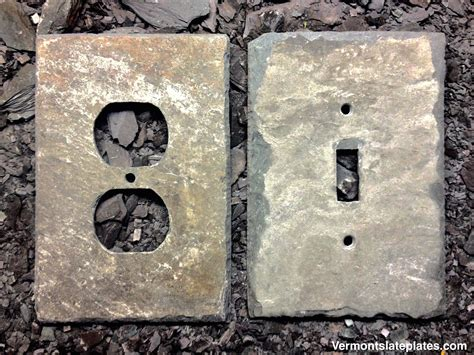 Decorative slate switch covers and outlet plates by