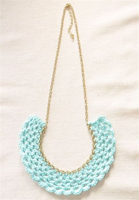 Crocheted Bib Necklaces in Sweet Macaron Colors | Crochet